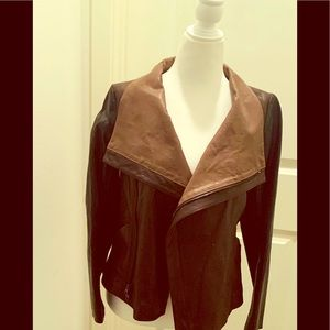 Vince XS brown leather jacket.